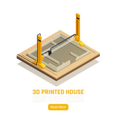 3d printed house vector