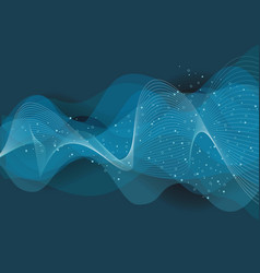 abstract background from blue transparent waves vector image