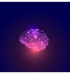 Abstract Concept of Active Human Brain vector