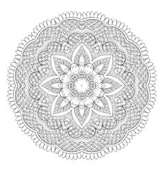 Abstract floral circular mandala vector image