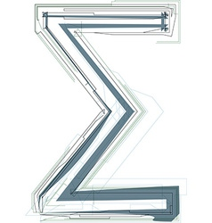 Abstract Sigma Sum sign vector