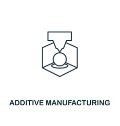 additive manufacturing icon thin line style vector image