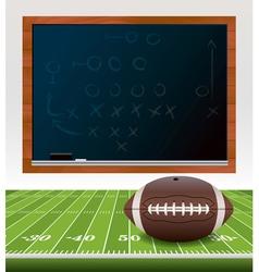 American Football Chalkboard vector image