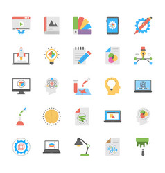 Art and design flat icons vector