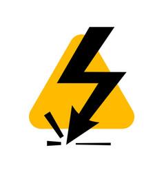 attention beware high voltage sign danger symbol vector image