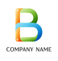 B letter colorful logo vector