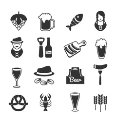 Black Beer Icon Set vector