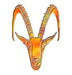 Bright goat portrait zodiac Capricorn sign vector