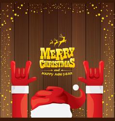 Cartoon santa claus rock n roll style with vector