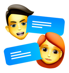 chat bot man and woman emoji concept modern style vector image