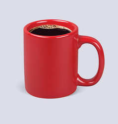 coffee cup isolated realistic 3d vector image