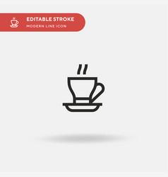 coffee simple icon symbol vector image