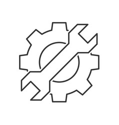 cogwheel with wrench icon vector image