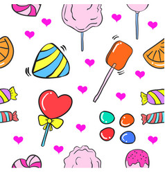 Collection stock of candy doodle style vector