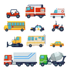 contains such as heavy industrial vehicle car vector image