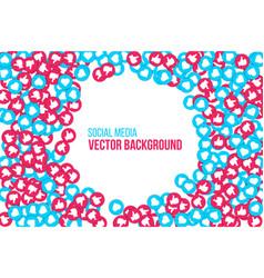 creative social network vector image