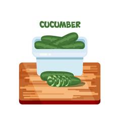 Cucumber flat design vector