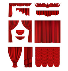 Curtain stage theatrical opera hall decoration vector