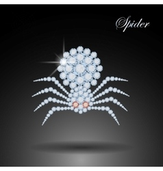Diamond spider Halloween symbolDecoration vector