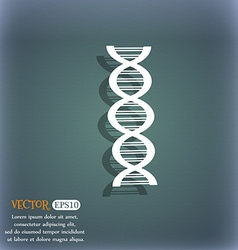 DNA icon On the blue-green abstract background vector image