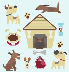 Dogs stickers vector