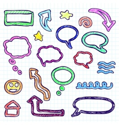 doodle set vector image vector image