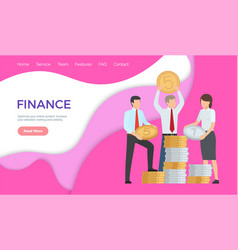 finance optimize online content increase ranking vector image