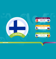 finland national team schedule matches in the vector image