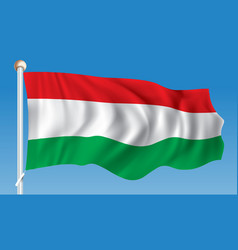 Flag of hungary vector