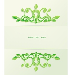 Floral green leaves with place for text vector image