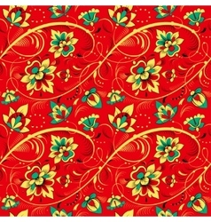 Floral seamless pattern in russian tradition style vector image