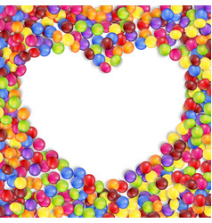 Frame love colored candies vector