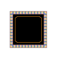 Frame with patterns vector