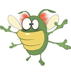 Funny Bug Cartoon Character vector image