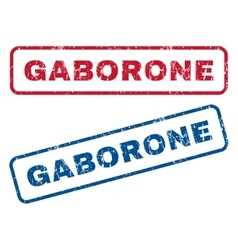 Gaborone Rubber Stamps vector image