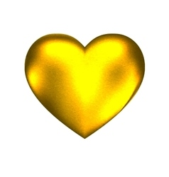 golden hard heart vector image