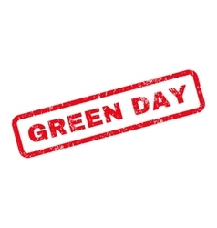 Green Day Text Rubber Stamp vector