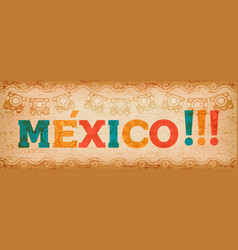 happy mexico holiday typography quote banner vector image
