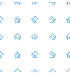 home key icon pattern seamless white background vector image