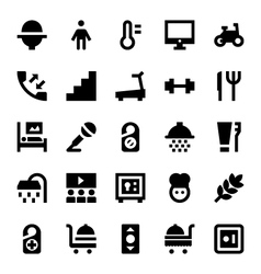 Hotel Services Icons 6 vector