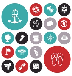 Icons for travel transportation vector