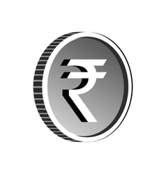 Indian rupee sign icon simple style vector image