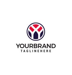 initial letter y logo inside circle shape design vector image