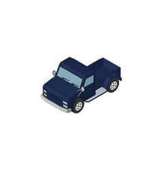 isolated pickup isometric suv element ca vector image