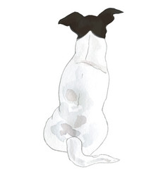 Jack russel breed dog vector