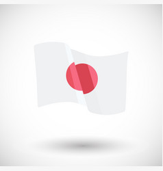 japan flag flat icon vector image