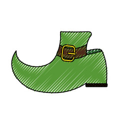 leprechaun boot design vector image