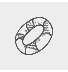Life preserver sketch icon vector