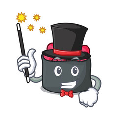 Magician ikura mascot cartoon style vector