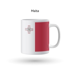Malta flag souvenir mug on white background vector
